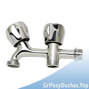 Cromado Aqualy BO-65201 Grifo lavadora doble rosca