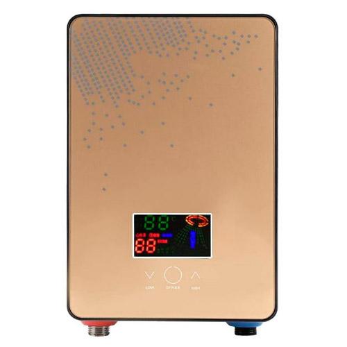El Mejor Calentador-Zerodis-Efecto-Espejo-Color-Bronce-El-Mejor-Modelo-con-Pantalla-LCD