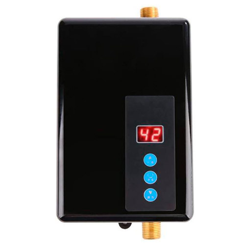 El Mejor Mini-Calentador-Eléctrico-Instantáneo-Garosa-Sin-Tanque-El-Modelo-Más-Llamativo-en-Color-Negro